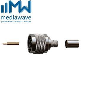 Разъем N-111/5D male, вилка, для кабеля 5D-FB (обжимной)