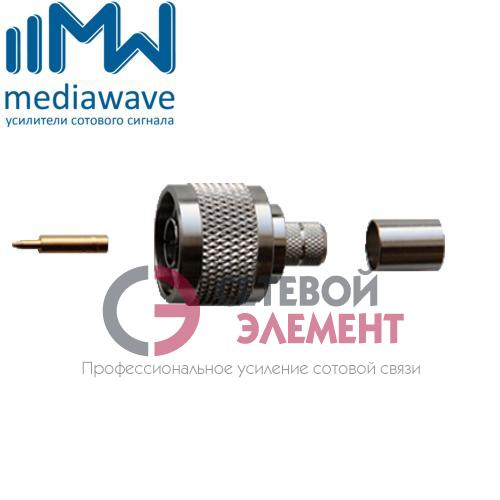 Разъем N-111/8D male, вилка, для кабеля 8D-FB (обжимной)
