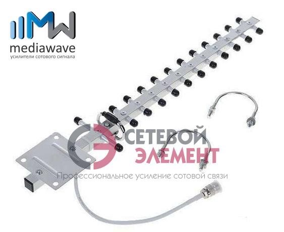 Антенна 1800/2100 МГц GSM/3G/4G - MediaWave MWA-1821-Y14