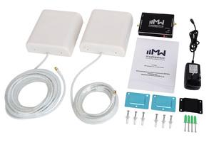 Комплект усиления сигнала 1800/2100 МГц GSM/3G/4G MediaWave (MWK-1821-N, до 1000 м2)