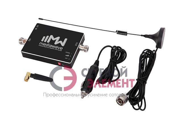 Автомобильный комплект усиления сигнала 2100 МГц 3G MediaWave (MWS-W-KC)