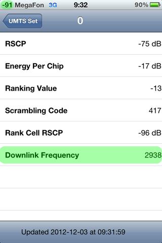 Инженерное меню сотовый сигнал 3G iphone