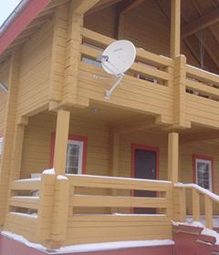монтаж спутникового интернет на даче