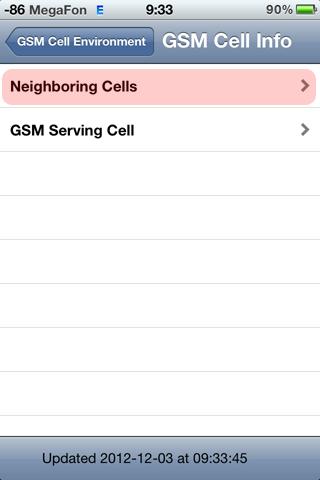 Инженерное меню уровень GSM iphone